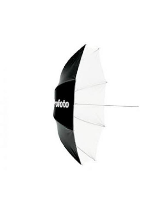 Blitzschirm Deep White L (weiss, 130cm)