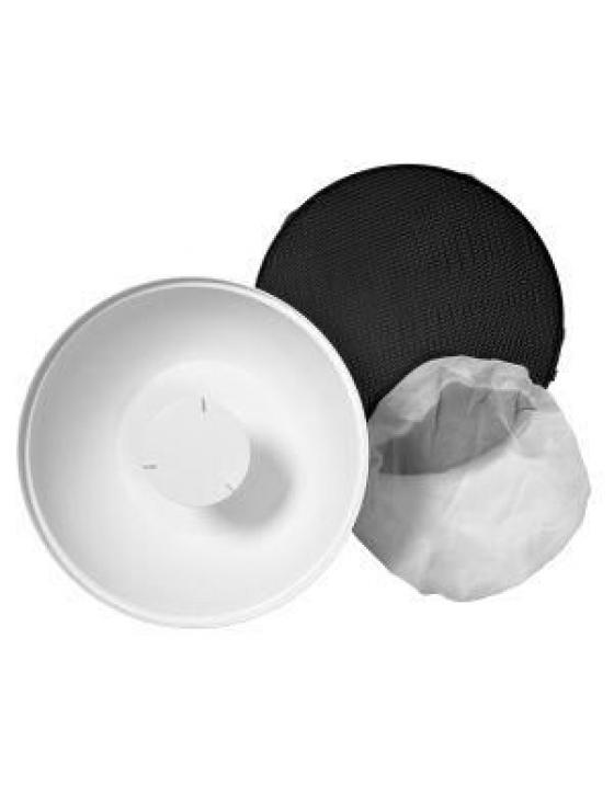 Softlight Kit (Softlight weiß 65°, Wabenvorsatz 25°, Frontdiffusor)