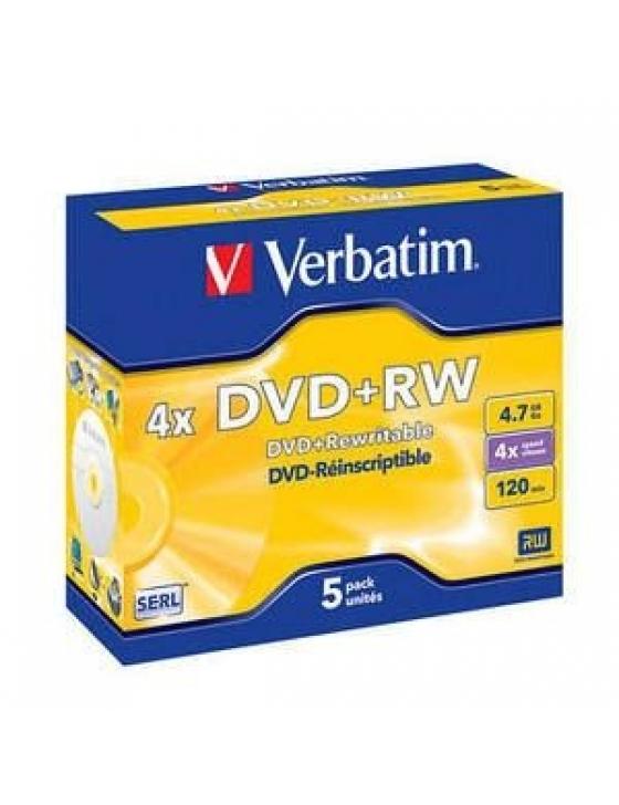 DVD+RW 4.7GB 4x Jewel / 5