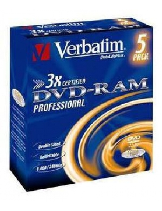 DVD-RAM 9.4GB 3x Type 4 / 5 Pack