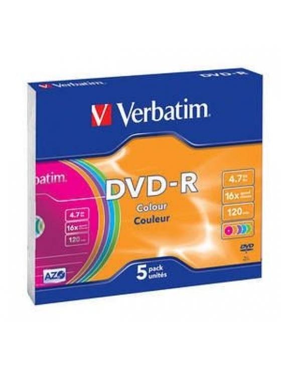 DVD-R 4.7GB 16x bunt, slim / 5