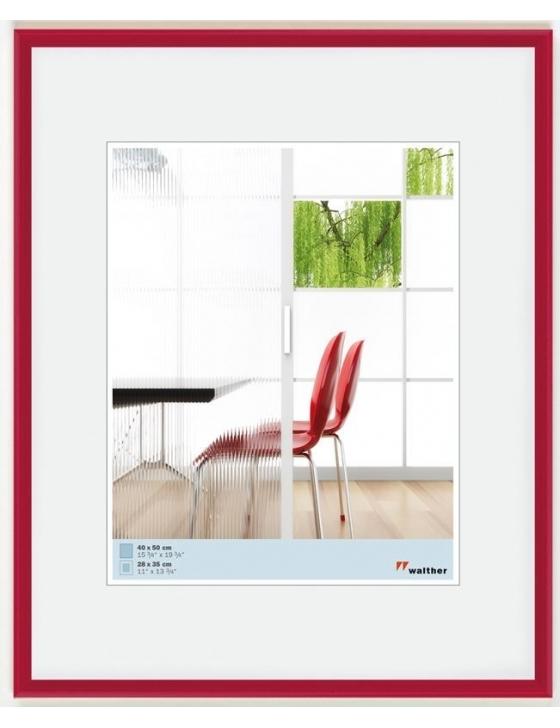 Easy Plastic Kunststoffrahmen 10x15 rot-metallic