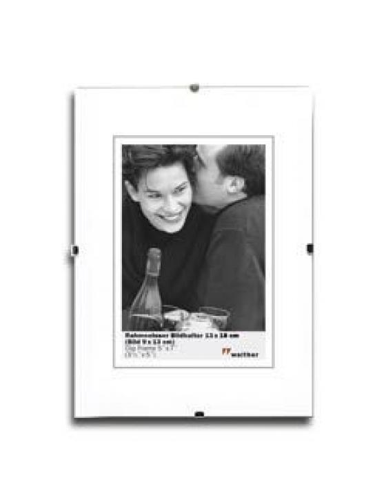 Rahmenloser Bildhalter 24x30 Antireflex