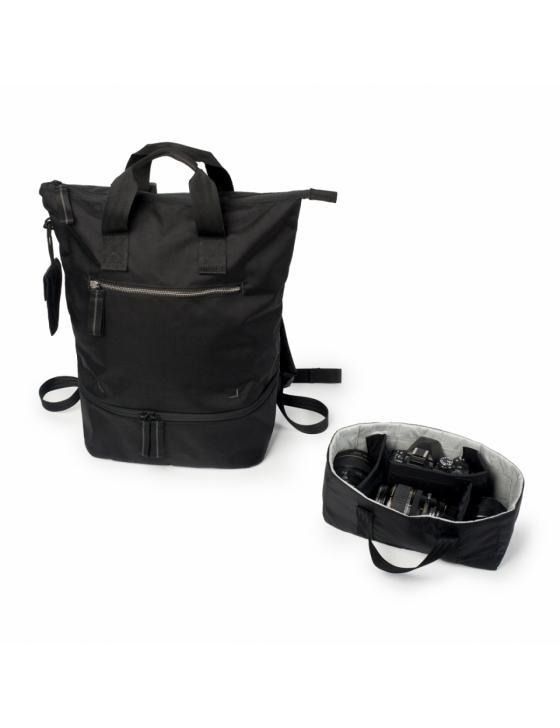 Doozie Photo Backpack  black / metallic silver