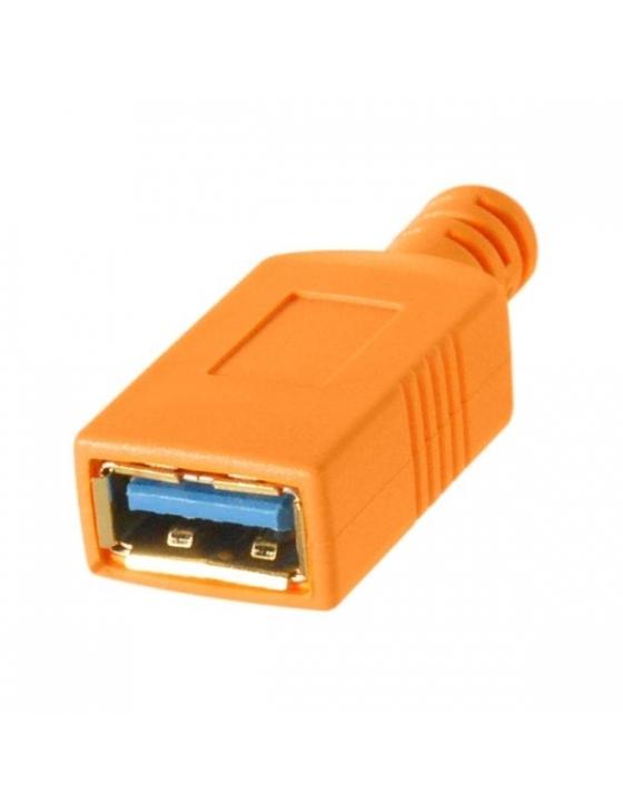 TetherTools TetherPro USB-C to USB 3.0 Adapter - Verlängerungskabel mit USB-3.0-Kupplung und USB-C-Stecker (orange)