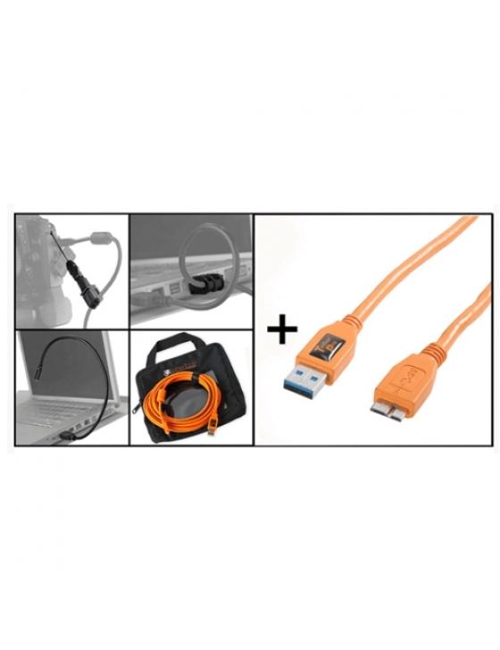 Starter Tethering Kit w/ USB 3.0 Micro-B Kabel 15`/4,6m ORG