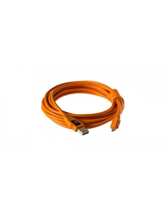 USB 2.0 A Male to Micro-B 5-pin 15'/4,6m - Orange