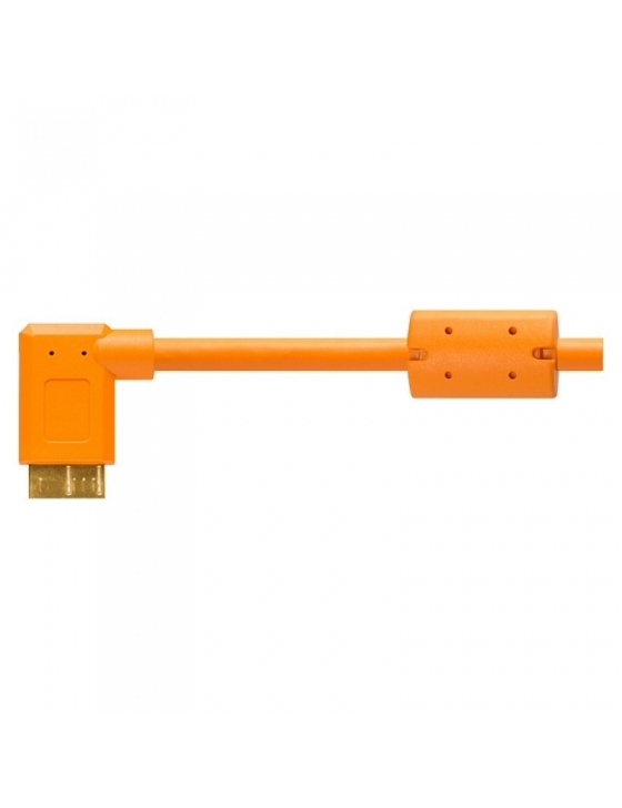 Tether Pro USB 3.0 /AM Micro-B Right Angle 4.6m/15' ORG