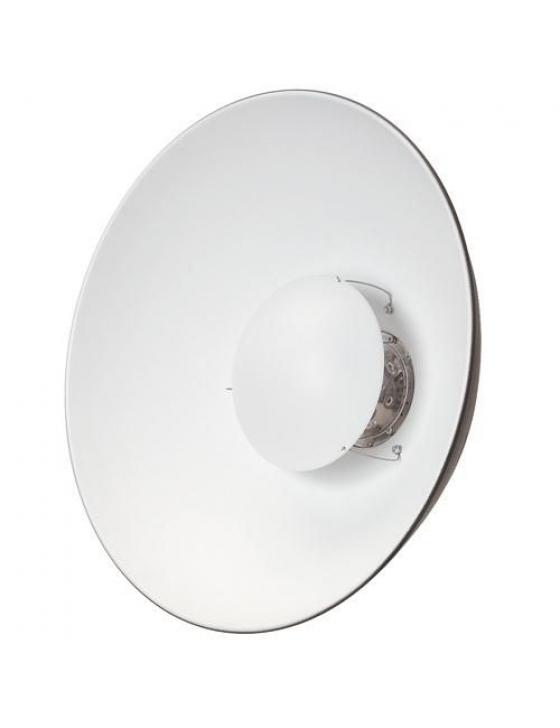 Weichstrahl-Reflektor V-Baj.  ø 44cm, weiß